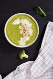 Broccoli cream soup Royalty Free Stock Photography