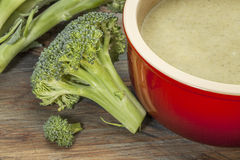 Broccoli cream soup Royalty Free Stock Image