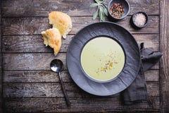 Broccoli cream soup stock image