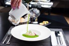 Broccoli cream soup Royalty Free Stock Photo