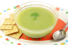 Broccoli creamed soup Royalty Free Stock Photography