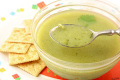Broccoli creamed soup Royalty Free Stock Image