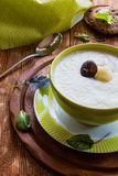 Broccoli creamy soup Royalty Free Stock Images