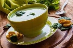 Broccoli creamy soup Stock Image