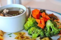 Broccoli cuisine and soup Stock Images