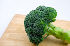 Broccoli. On cutting board on white background Royalty Free Stock Photo