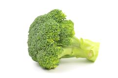 Broccoli d'isolement Photos stock
