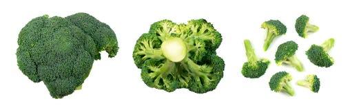 Broccoli d'isolement sur le blanc photo libre de droits