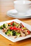 Broccoli de poulet Images libres de droits