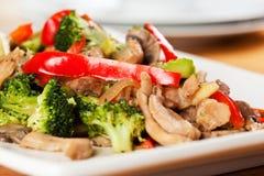 Broccoli de poulet Photos stock
