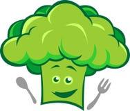 Broccoli di riserva del cuoco unico di logo Immagini Stock