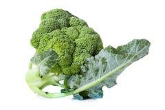 Broccoli die op wit worden geïsoleerdt Royalty-vrije Stock Foto
