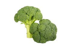 Broccoli die op witte achtergrond worden geïsoleerd? Royalty-vrije Stock Foto's