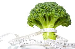 Broccoli diet meter Stock Photos