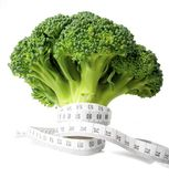 Broccoli diet meter Royalty Free Stock Image