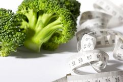 Broccoli diet meter Royalty Free Stock Photos
