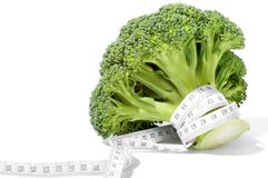 Broccoli diet meter Royalty Free Stock Photography