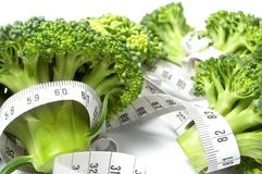 Broccoli diet meter Royalty Free Stock Images