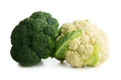 Broccoli e cavolfiore immagini stock libere da diritti