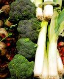 Broccoli e poro fotografia stock libera da diritti