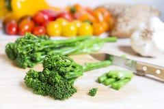 Broccoli e verdure freschi di bimi immagini stock libere da diritti