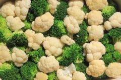 Broccoli ed ornamenti del cavolfiore Fotografia Stock Libera da Diritti