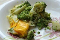 Broccoli ed uova rimescolate Fotografie Stock Libere da Diritti