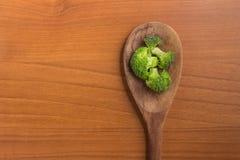 Broccoli in een lepel Royalty-vrije Stock Afbeelding