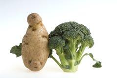 Broccoli en aardappel Stock Foto