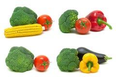 Broccoli en andere groenten op een witte achtergrond Royalty-vrije Stock Foto's
