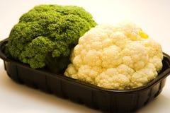 Broccoli en bloemkool Stock Foto's