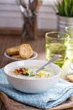 Broccoli en graanvissoep royalty-vrije stock afbeeldingen