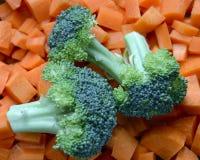 Broccoli en wortelen Stock Foto's