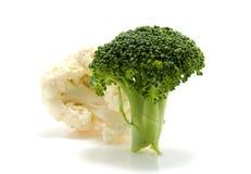 Broccoli et chou-fleur frais Photos stock
