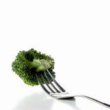 Broccoli et fourchette Images libres de droits