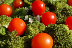 Broccoli et tomates Photo stock