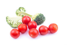 Broccoli et tomates Images stock