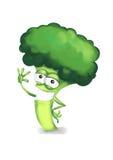 Broccoli felici Fotografia Stock