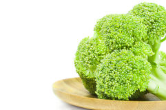 Broccoli floret isolated on a white background cutout. Fresh raw broccoli on a white background. Clipping path Stock Images