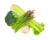 Broccoli Florets Asparagus Onion Celery Top Royalty Free Stock Photography