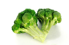 Broccoli florets. Isolated in white seamless background Royalty Free Stock Photo