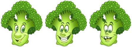 Broccoli. Food Emoji Emoticon collection stock photos