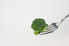 Broccoli on a fork Royalty Free Stock Images