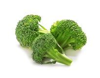 Broccoli frais sur le fond blanc Haute naturelle de nourriture image libre de droits