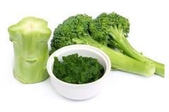 Broccoli freschi con pasta a terra Fotografie Stock