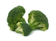 Broccoli freschi su un fondo bianco Immagini Stock Libere da Diritti