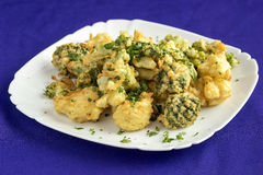 Broccoli,fried in batter. Royalty Free Stock Photos