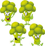 Broccoli - funny vector cartoon Stock Photography