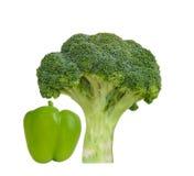 Broccoli and green pepper Stock Photos