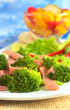 Broccoli and Ham Salad Royalty Free Stock Image